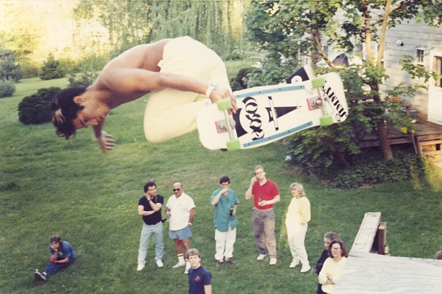 Hosoi circa 1986 Backside air Jeff Roenings ramp New Jersey photo jason oliva