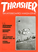 Thrasher Magazine 1981 Issue 2 jason oliva the house of steam