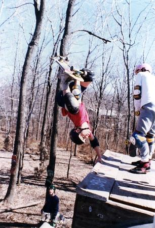 Tom Groholski Invert at the girl ramp 1986 photograph jasonoliva