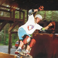 147: Pete Furnee CCCC circa 199o Skating under the roof!!