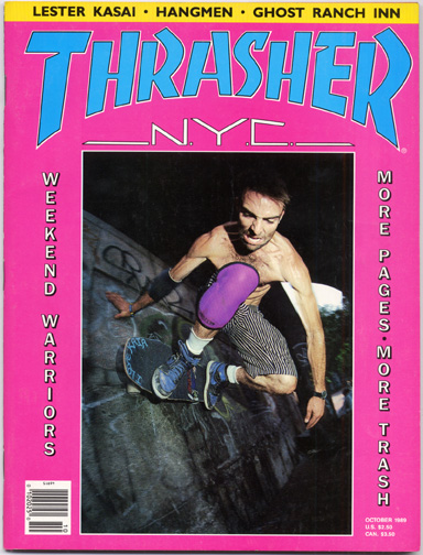 Jeremy Henderson NYC SHUT Thrasher cover October 1989