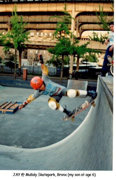 Jay Irenes son in The Bronx skating