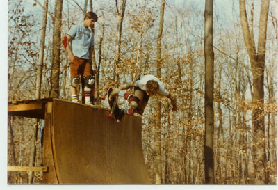 Dave Padulo at Tags Ramp 1983