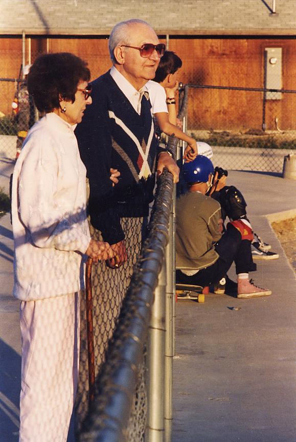 Grandpa and Grandma at ThePipeline March 1988