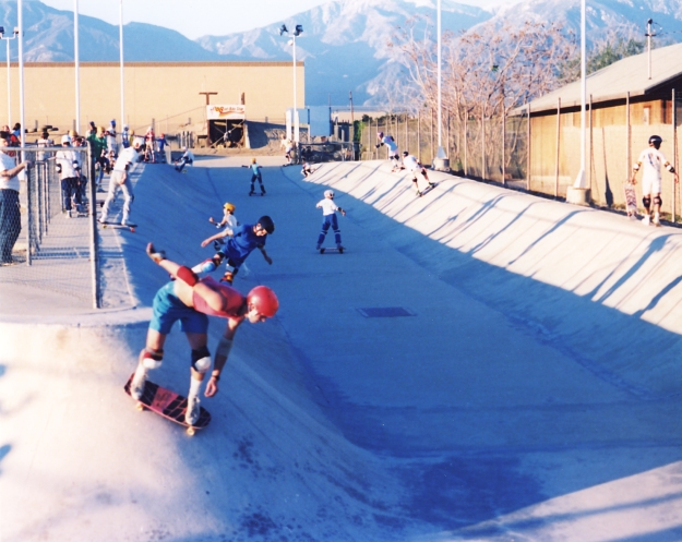 Pipeline Skatepark Upland CA 1986 photo jason oliva